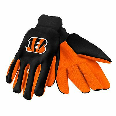 Cincinnati Bengals Gloves Sports Logo Utility Work Garden NEW Colored Palm