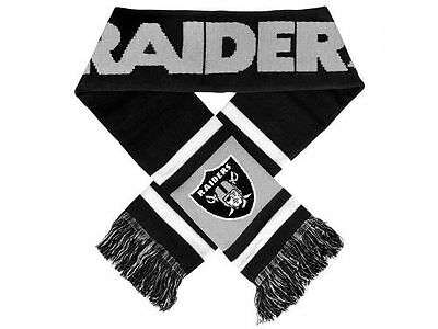 "Oakland Raiders Knit Winter Neck Scarf NEW 65"" 2012 Team Stripe"