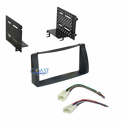 pioneer radio stereo double din dash kit wire harness for 03 08 double din car radio stereo dash kit wire harness for 2003 2008 toyota corolla