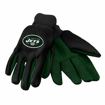 NEW York Jets Gloves Sports Logo Utility Work Garden NEW Colored Palm