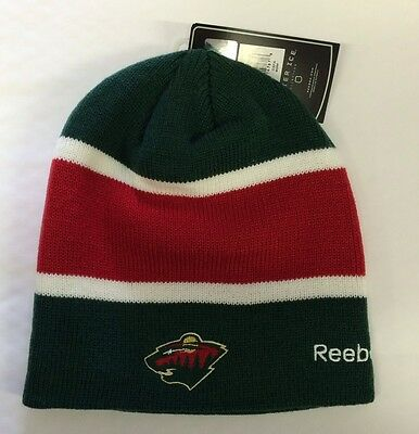 Minnesota Wild Knit Beanie Toque Winter Hat Skull Cap New NHL Center Ice - Nice