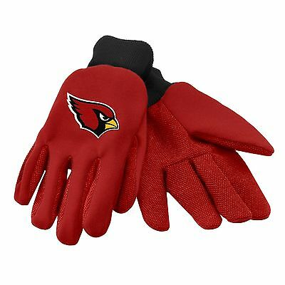 Arizona Cardinals Gloves Sports Logo Utility Work Garden NEW Colored Palm
