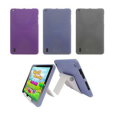 "View Stand Holder + TPU Skin Case Cover for Insignia Flex 8"" NS-P08W7100 Tablet"