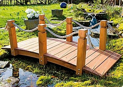 Pond Bridge Pine Wood Pinewood 152x67x50cm