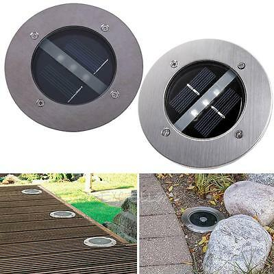 3 LED Solar Powered Underground Buried Light Lamp Path Road Garden Decking  E0Xc
