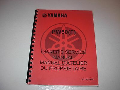 Yamaha PW50 F Motorcycle Service Manual - mid 1990's