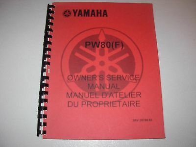 Yamaha PW80 F Motorcycle Service Manual - mid 1990's