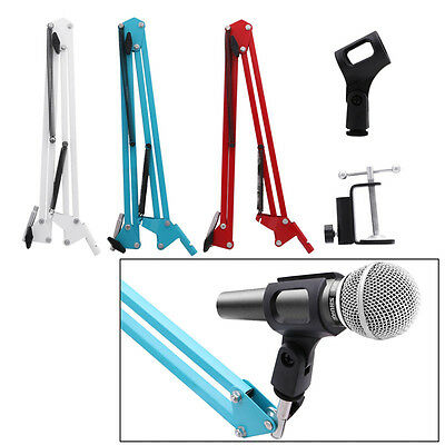 Mic Holder Microphone Suspension Boom Scissor Arm Stand Studio Broadcast New