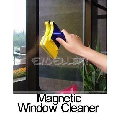 Double Side Magnetic Window Cleaner Squeegee Glass Wiper Useful Surface