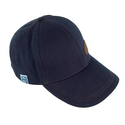 Genuine Land Rover Gear Heritage Waxed Cotton Baseball Cap Hat - Navy