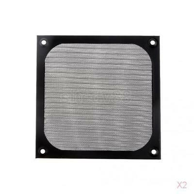 2x Economical and Practical Dustproof 120mm Fan Dust Filter for PC Computer