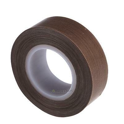 Brown PTFE Coated Fiberglass Fabric With Silicone Adhesive Tape 19mmx10M Hot