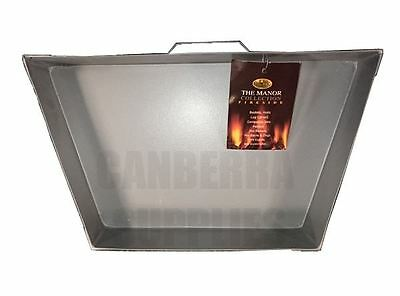 """Manor Fireside Fireplace Fire 15"""" Square Taper Ash Tray Pan 0748"""