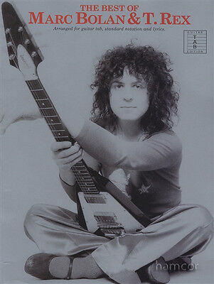 The Best of Marc Bolan & T Rex Guitar TAB Music Book 70s Glam Pop