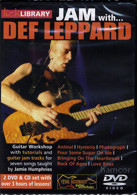 Jam with Def Leppard Lick Library Learn How to Play Guitar Tuition DVD CD Set