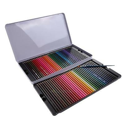 72-Colors Water Soluble Art Drawing Crafts Sketching Non-toxic Pencil +Brush Kit