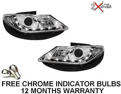 Seat Ibiza 2008-2012 Mark 5 6J Chrome Led Drl R8 Style Projector Headlights