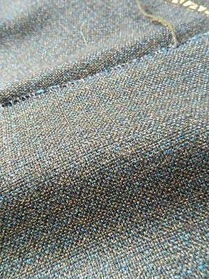 """SUPERFINE WOOL WORSTED SUITING FABRIC, blue,black,green 60"""" x 45"""""""