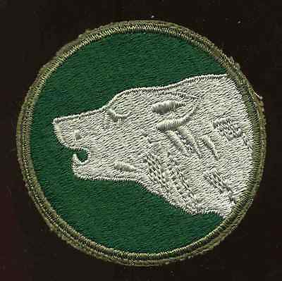 Vintage WWII US Army 104th Infantry Division Timber Wolf Patch Faceing left