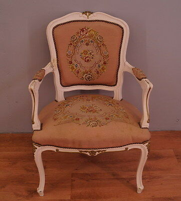 804 !! Superb Shabby Chic French  Armchair In Louis Xv Style !!