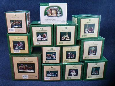 Dept 56 Dickens 12 Twelve Days Of Christmas Full Set Of 13 With Sign (h2188)