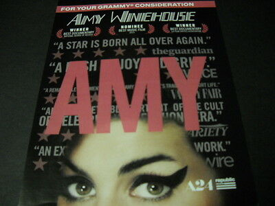 AMY WINEHOUSE ...A Star Is Born All Over Again 2016 PROMO POSTER AD