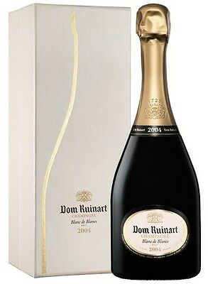 Dom Ruinart Blanc de Blancs Champagne 2004 (6 x 750mL Giftboxed), France.