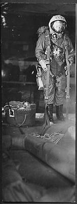 Soviet Space old Press Photo 1966. Cosmonaut Space Suit Costume