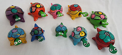 Lot of 10 Assorted Sizes of Reg & Extra Large Bobble Head Turtles 5 of each