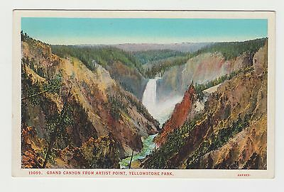 Vintage UNUSED PC: Grand Canyon from Artist Point, Yellowstone Park © Haynes