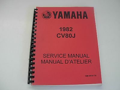 Yamaha CV80J  Motorcycle Service Manual - 1982