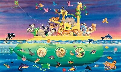NOAH'S SUB WALLPAPER MURAL, PREPASTED (9' x 15')