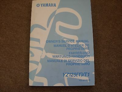 Yamaha YZ125T , YZ125T1 Motorcycle Service Manual , 2004
