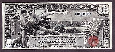 US 1896 $1 Education Silver Certificate FR 224 VF-XF (-297)