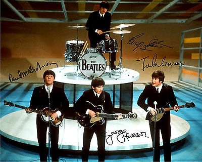 REPRINT - THE BEATLES 1 autograph autographed signed photo copy