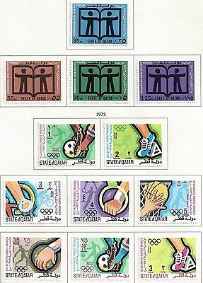 Qatar 1972 1973 Collection Of 12 Complete Sets Seven Sets Are Never Hinged High