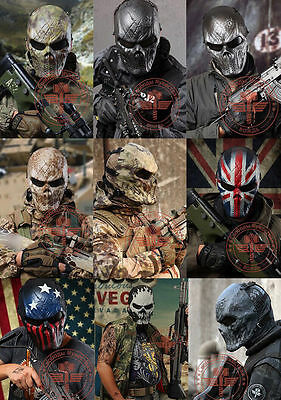 Airsoft Paintball Full Face Skull Mask For CS Mask Tactical Military Halloween
