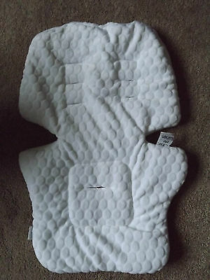 Fleece Pram Pushchair Buggy Stroller Seat  Liner White