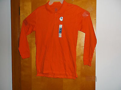 """BRAND NEW /""""FADED GLORY BOY/'S REALLY ROYAL 2 BUTTON FRONT COTTON POLO SHIRT"""