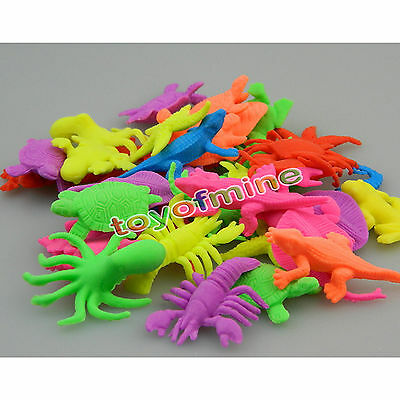 20pcs Plastic Ocean Creatures Sea Lion Dolphin Animals Figure Kids Toy Gift