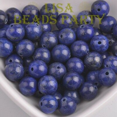 Wholesale  4~12mm Natural Lapis Lazuli Gemstone Stone Round Loose Beads
