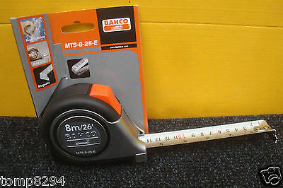 Special Deal Bahco Mts 8 25 E 8M/26' Tape Measure Stainless Steel