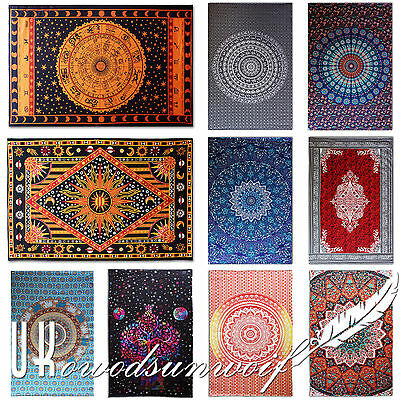 Ombre Indian Tapestry Bedding Large Wall Hanging Elephant Mandala Throw Hippie