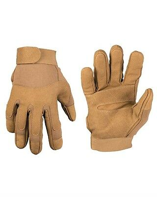 Army Gloves dark coyote, Security, Outdoor, Military         -NEU-