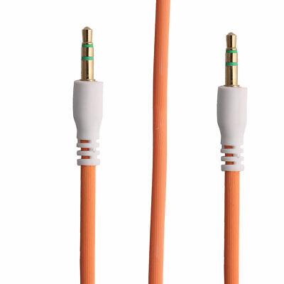 3.5mm Male to Male 3 Feet Auxiliary Audio Adapter Stereo Cable Cord Orange