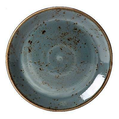 Steelite Craft Coupe Plate Blue 15.25cm - Small Vitrified Rustic Plate