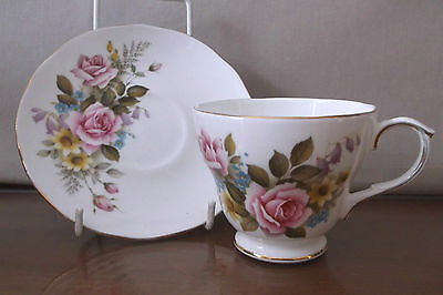 Duchess Bone China Tea Cup and Saucer 'Summer' Pattern 409 Scarce