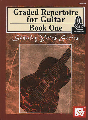 Graded Repertoire for Guitar 1 Sheet Music Book with Audio Access Stanley Yates