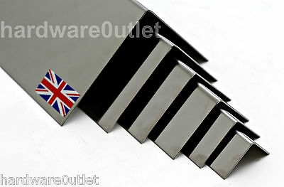 Polished Stainless Steel FOLDED ANGLE 1.2mm - 10 Sizes & 15 Lengths Avaliable