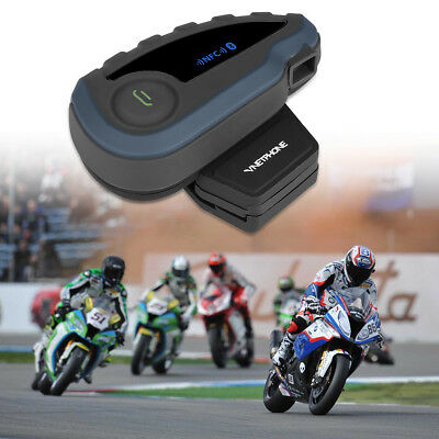Bluetooth Intercomunicador Interphone Moto Interfono Casco Auriculares V8-1200M